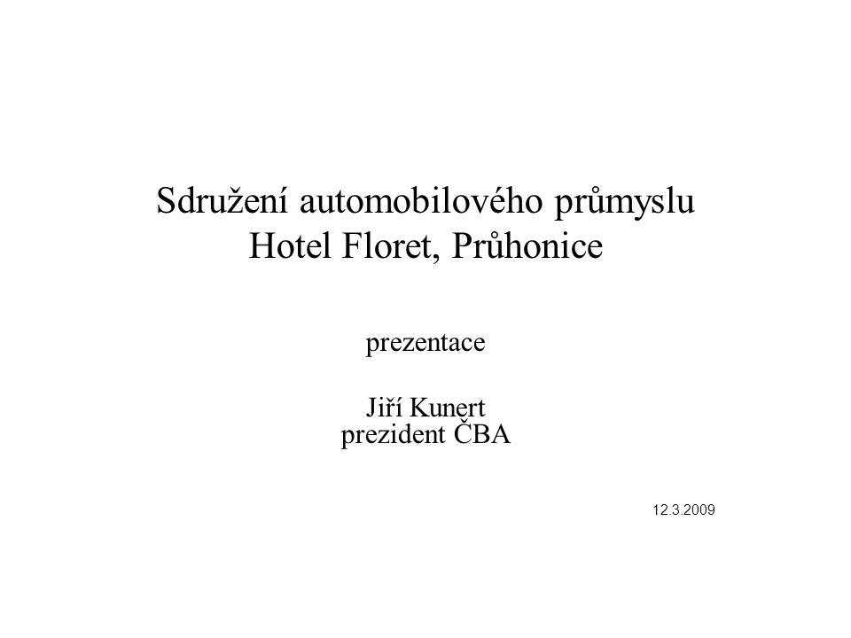 Sdružení automobilového průmyslu Hotel Floret, Průhonice prezentace Jiří Kunert prezident ČBA 12.3.2009