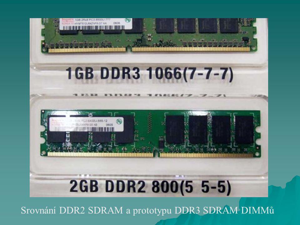 Srovnání DDR2 SDRAM a prototypu DDR3 SDRAM DIMMů