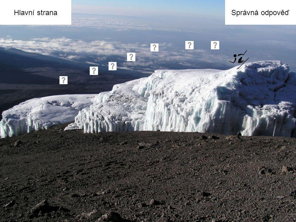 Nápověda: Na této hoře můžeme sledovat jev globálního oteplování.