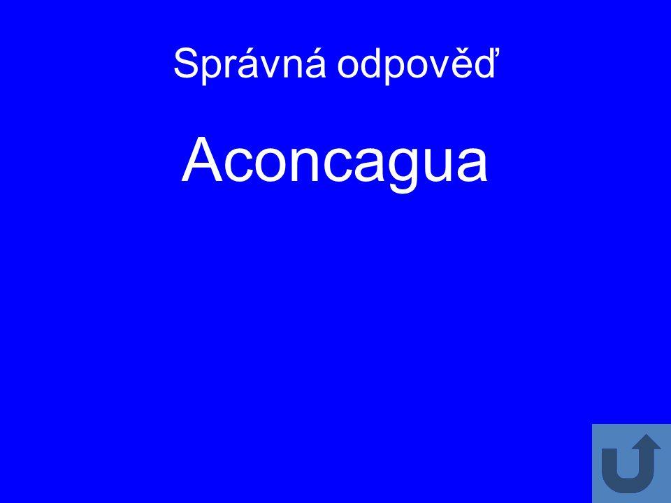 Správná odpověď Aconcagua