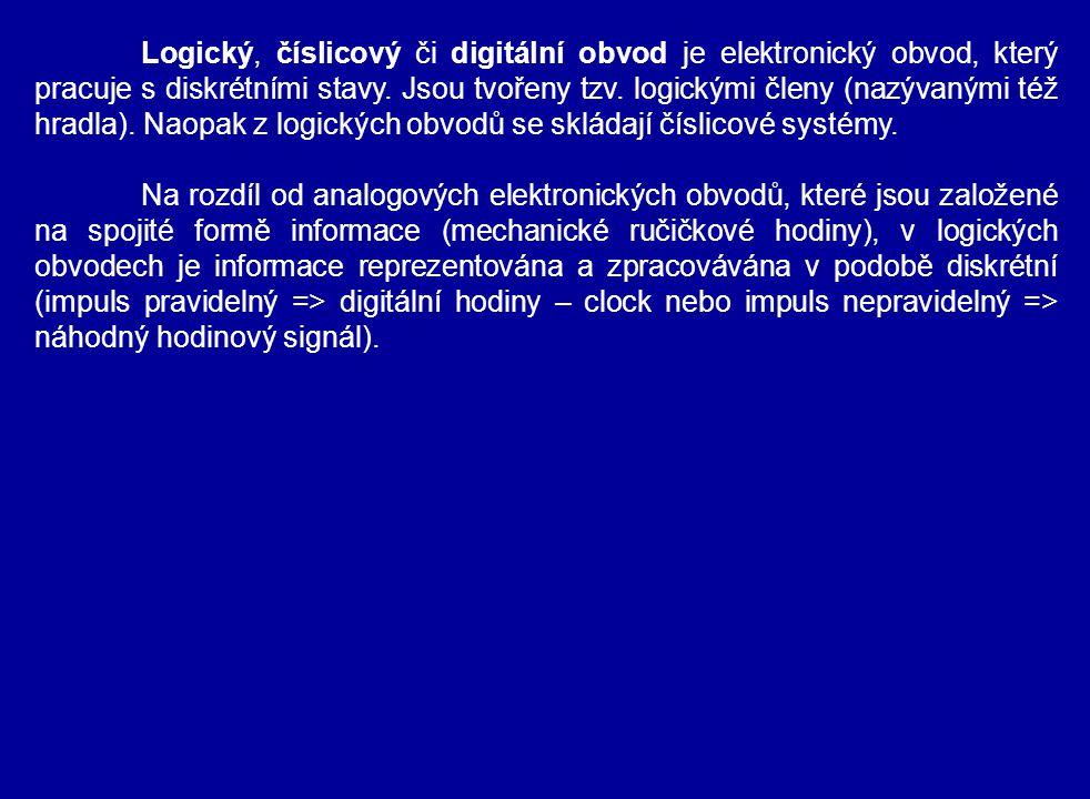 Logický, číslicový či digitální obvod je elektronický obvod, který pracuje s diskrétními stavy. Jsou tvořeny tzv. logickými členy (nazývanými též hrad