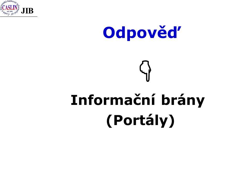 JIB Odpověď   Informační brány (Portály)