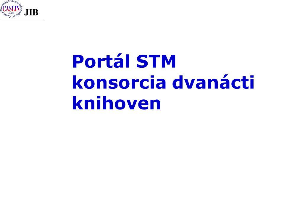 JIB Portál STM konsorcia dvanácti knihoven