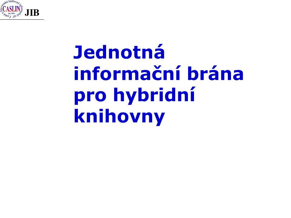 JIB Jednotná informační brána pro hybridní knihovny
