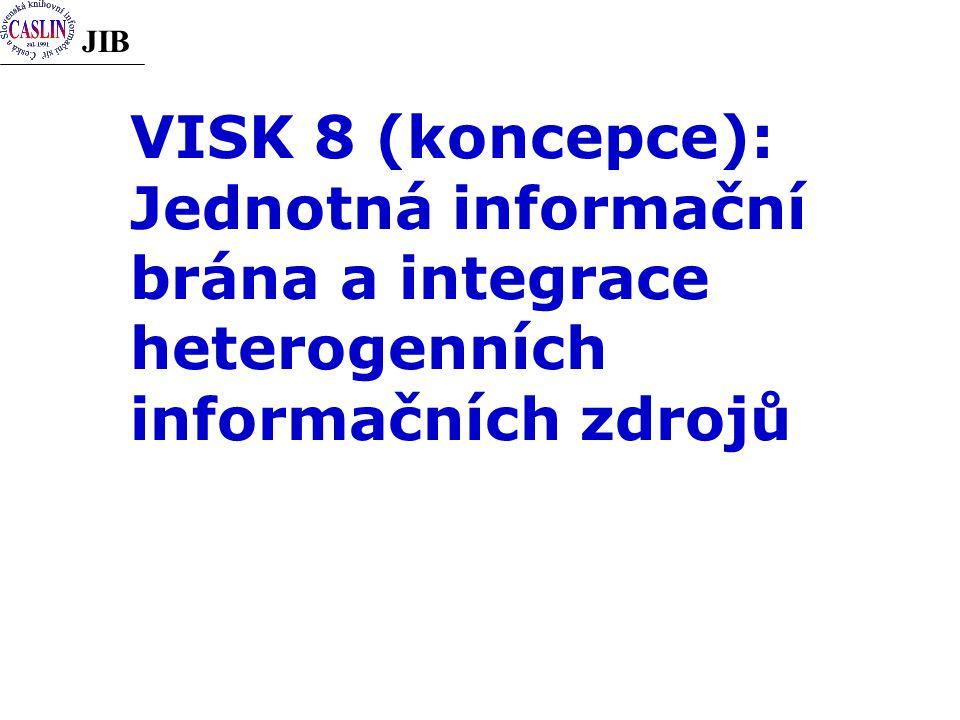 JIB VISK 8 (koncepce): Jednotná informační brána a integrace heterogenních informačních zdrojů