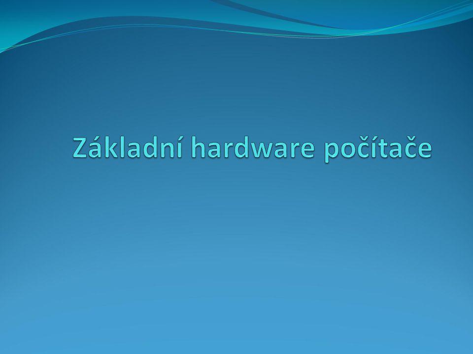 """Hardware v překladu """"tvrdé zboží nebo """"železářské zboží označuje technické vybavení počítače data a programy – software na rozhraní mezi hardware a software tzv."""