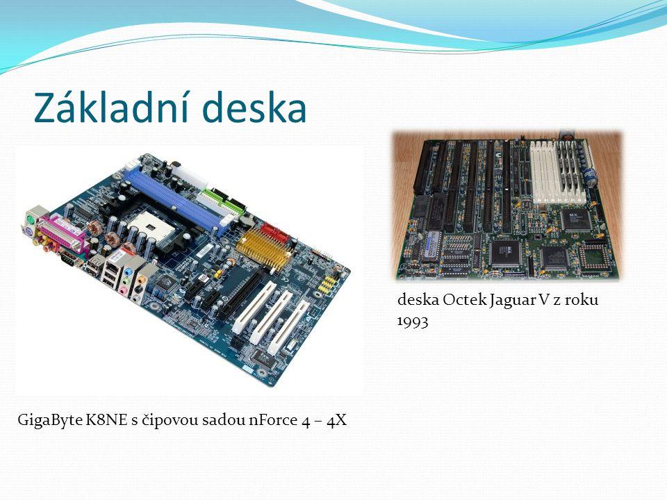 Grafická karta slouží k zobrazení obrazu na monitoru, grafickým výpočtům výjimečně součást základní desky, dnes oddělena a připojena přes PCI-Express (až 4.0 – 32 GB/s), dříve AGP o výpočet se stará grafický procesor (GPU) ve spolupráci s pamětí (většinou vlastní, pokud ne, ukládá se do operační paměti) Výrobci: nVIDIA a ATI (AMD) ATI Radeon X850XT Platinum