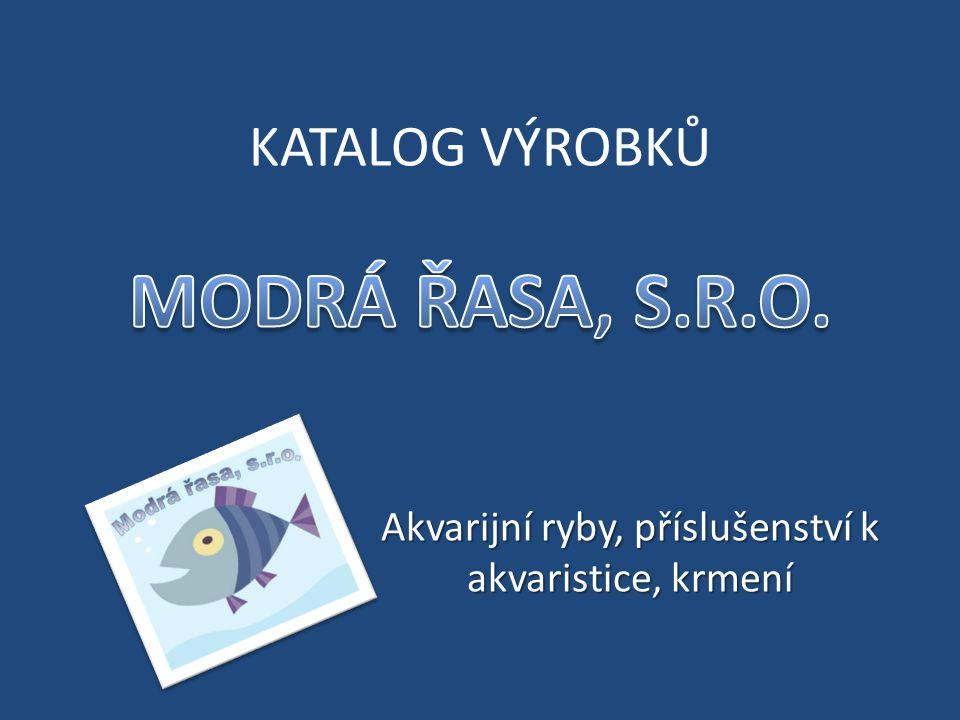 Akvarijní ryby, příslušenství k akvaristice, krmení