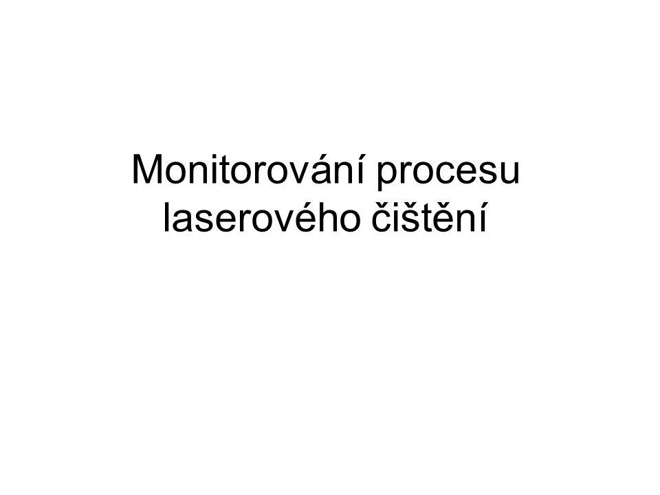 Monitorování procesu laserového čištění
