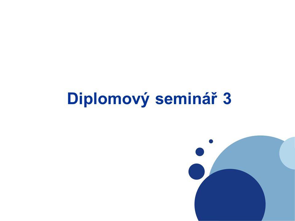 Diplomový seminář 3