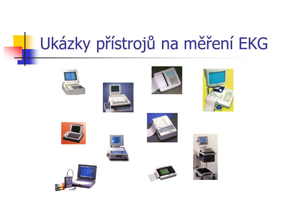 Ukázky přístrojů na měření EKG