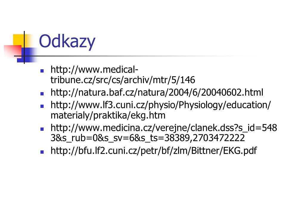 Odkazy http://www.medical- tribune.cz/src/cs/archiv/mtr/5/146 http://natura.baf.cz/natura/2004/6/20040602.html http://www.lf3.cuni.cz/physio/Physiolog