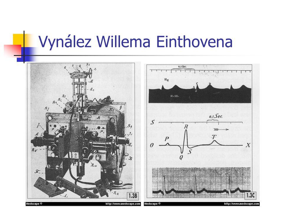 Einthoven proto sestrojil nové zařízení, jehož hlavní součástí bylo tenké pokovené vlákno umístěné mezi dvěma elektromagnety.