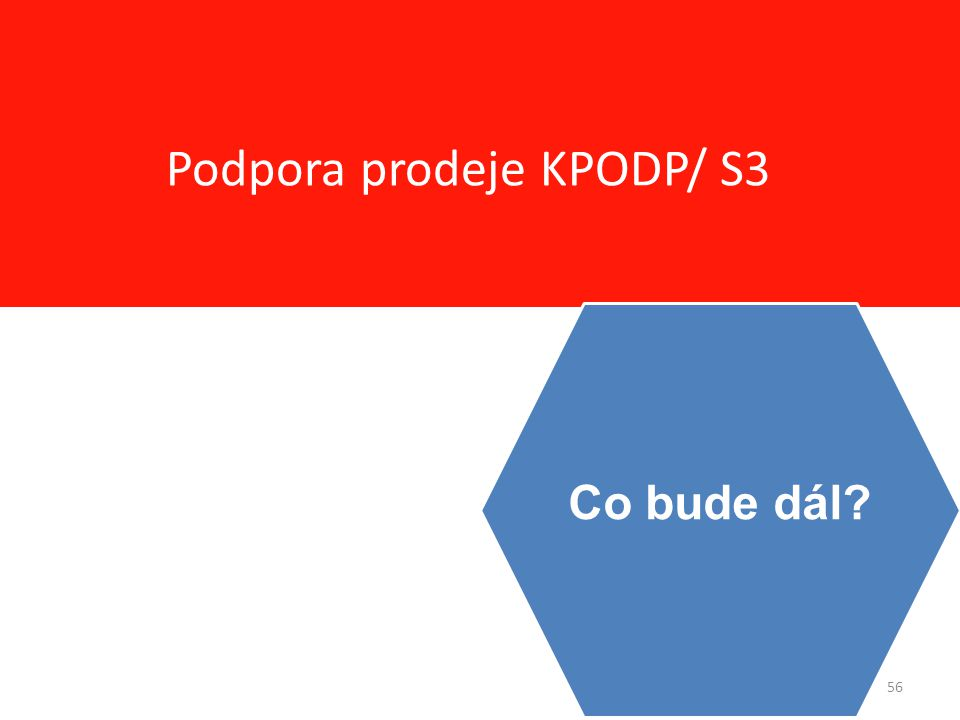 56 Podpora prodeje KPODP/ S3 Co bude dál?