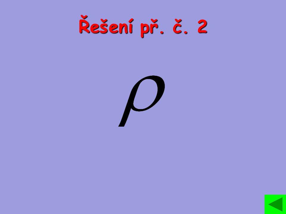 Řešení př. č. 2