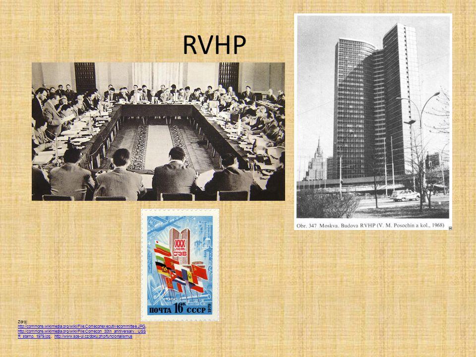 RVHP Zdroj: http://commons.wikimedia.org/wiki/File:Comeconexecutivecommittee.JPG, http://commons.wikimedia.org/wiki/File:Comecon_30th_anniversary._USS