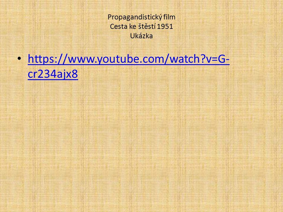 Propagandistický film Cesta ke štěstí 1951 Ukázka https://www.youtube.com/watch?v=G- cr234ajx8 https://www.youtube.com/watch?v=G- cr234ajx8