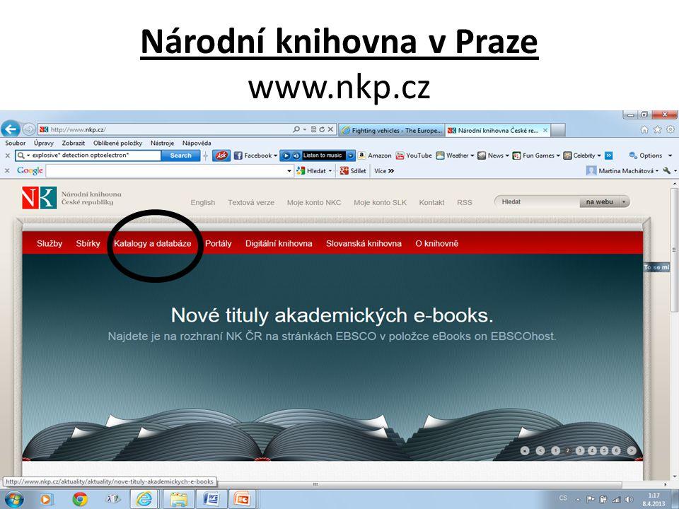 Národní knihovna v Praze www.nkp.cz
