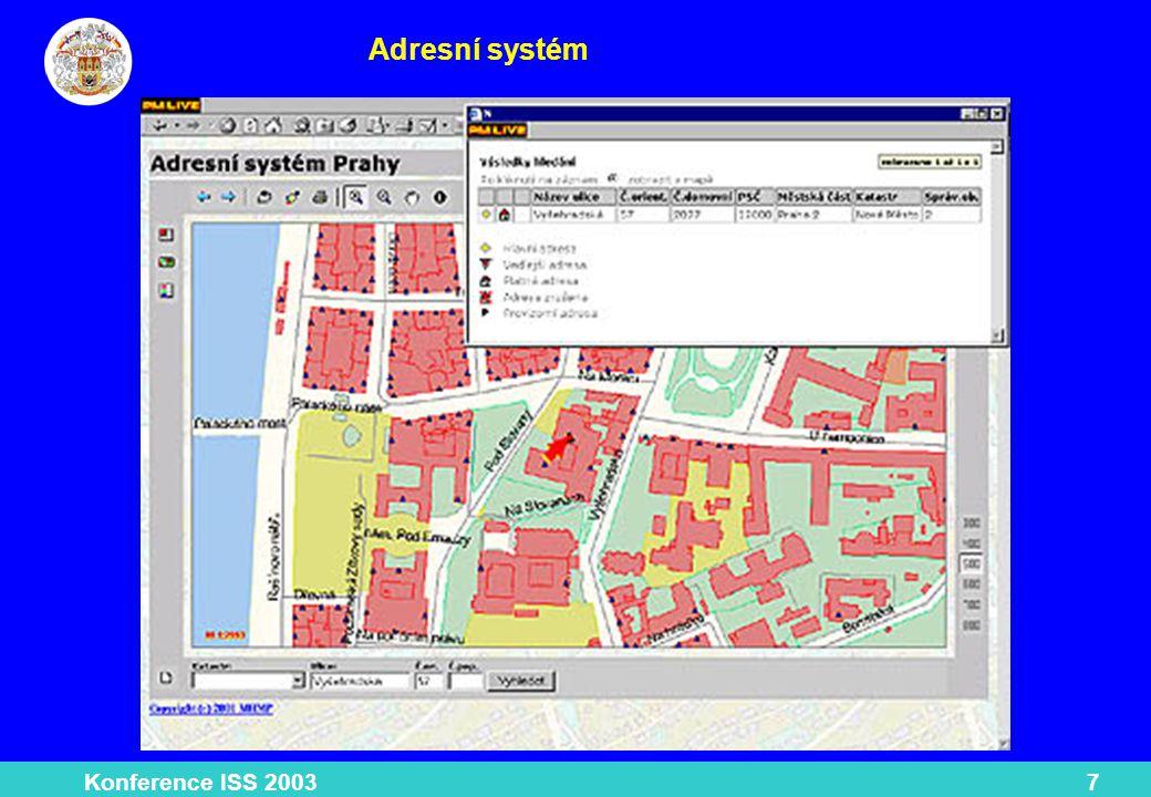 Konference ISS 20038 Atlas životního prostředí Technologie WebMap Hydrosoft Sirion komplexní informace o životním prostředí v Praze.