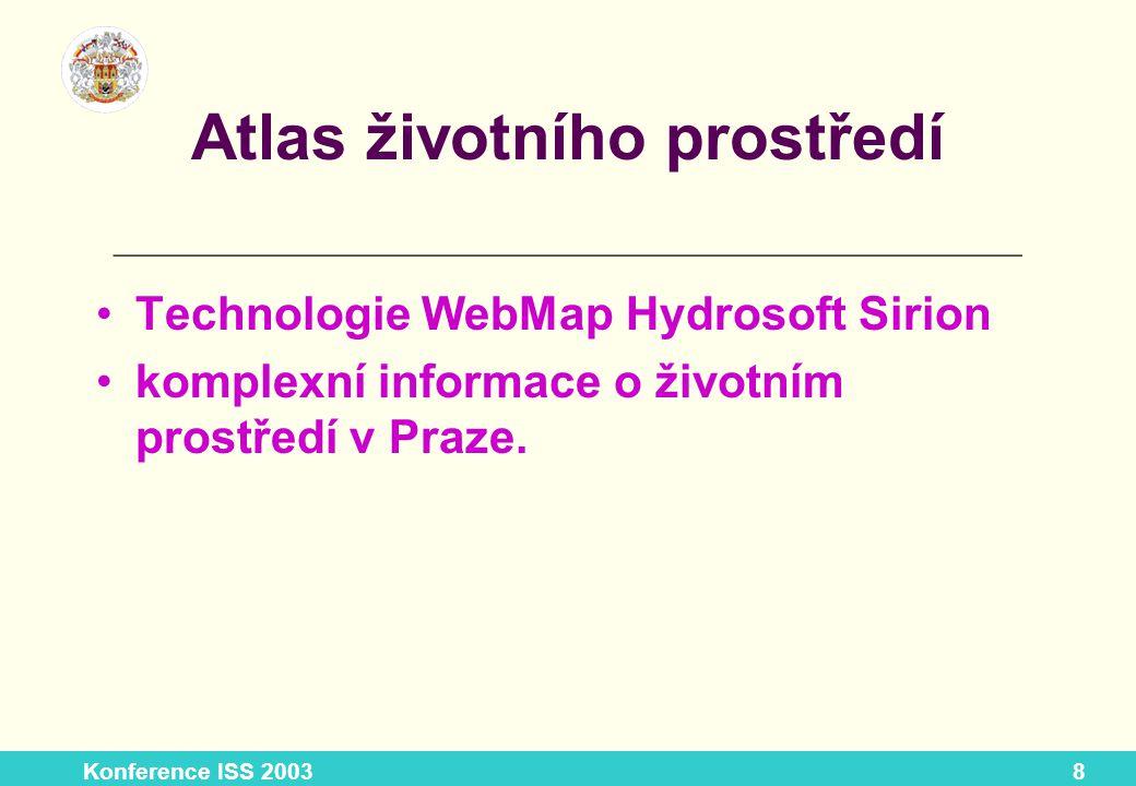 Konference ISS 20039 Atlas životního prostředí