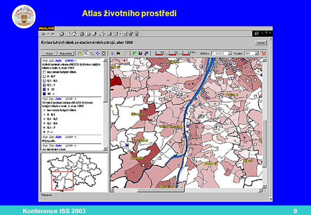 Konference ISS 200310 Povodeň 2002 Technologie Tmapserver firmy TMapy nadstavba nad ArcIMS prezentace skutečných a modelových dat.