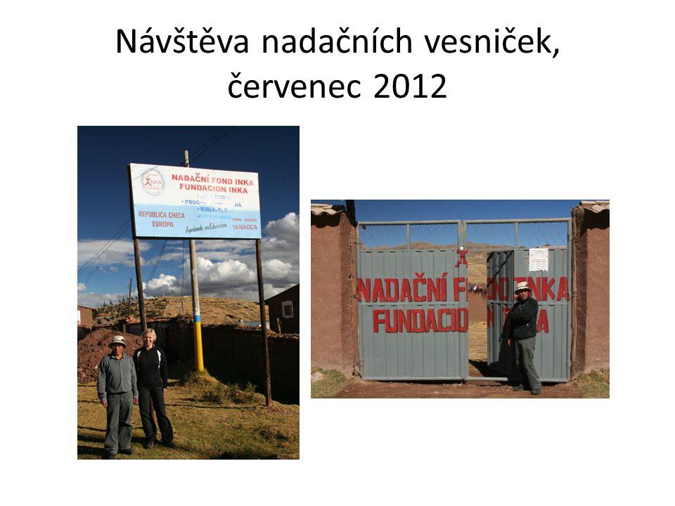 Návštěva nadačních vesniček, červenec 2012