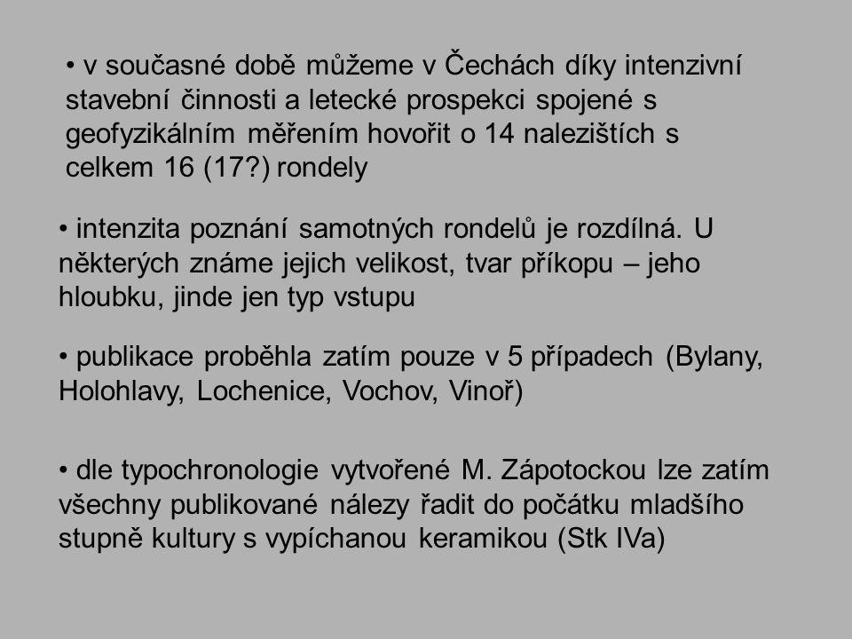 v současné době můžeme v Čechách díky intenzivní stavební činnosti a letecké prospekci spojené s geofyzikálním měřením hovořit o 14 nalezištích s celk