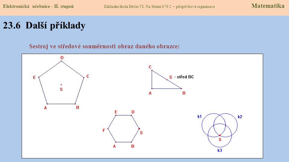23.6 Další příklady Elektronická učebnice - II.