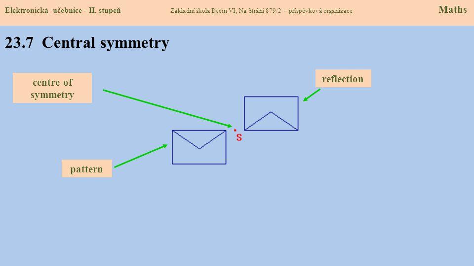 23.7 Central symmetry Elektronická učebnice - II.