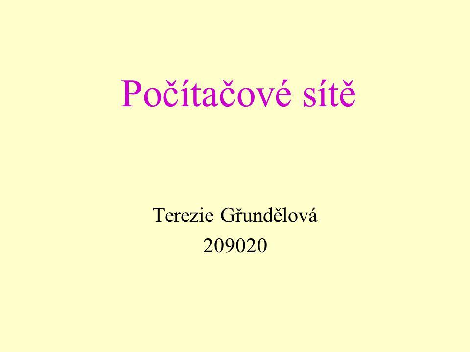 Počítačové sítě Terezie Gřundělová 209020