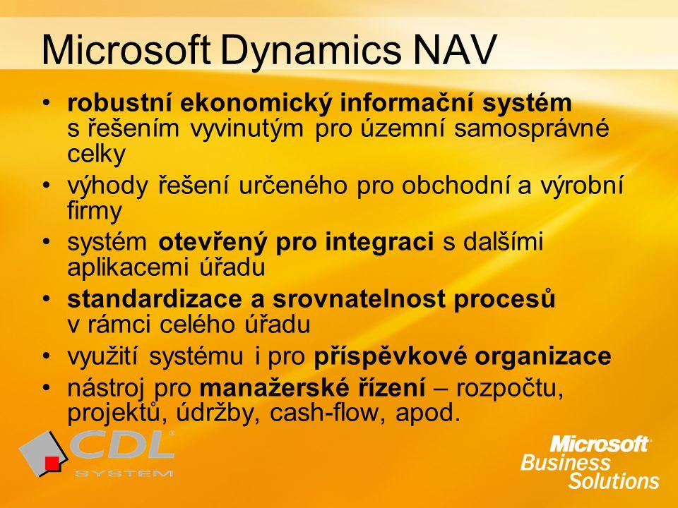 robustní ekonomický informační systém s řešením vyvinutým pro územní samosprávné celky výhody řešení určeného pro obchodní a výrobní firmy systém otev