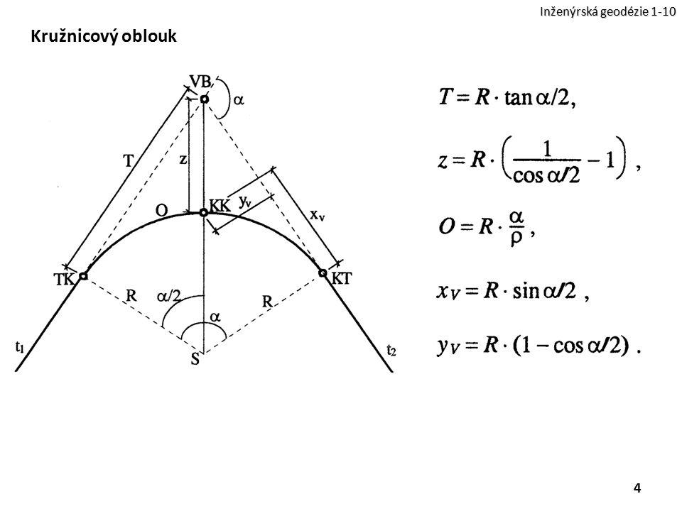 4 Inženýrská geodézie 1-10 Kružnicový oblouk