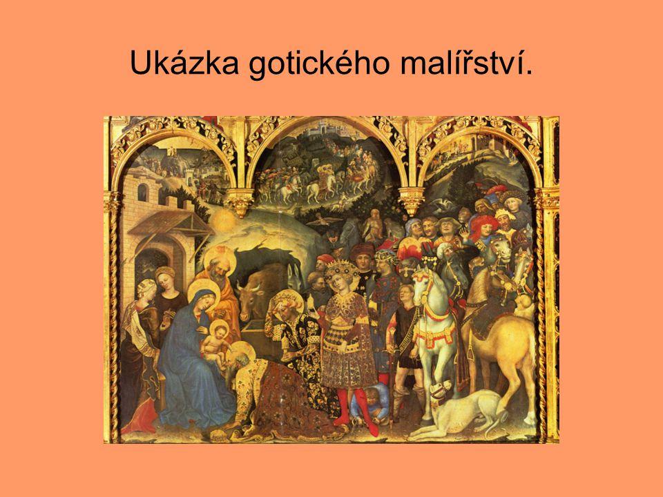 Ukázka gotického malířství.