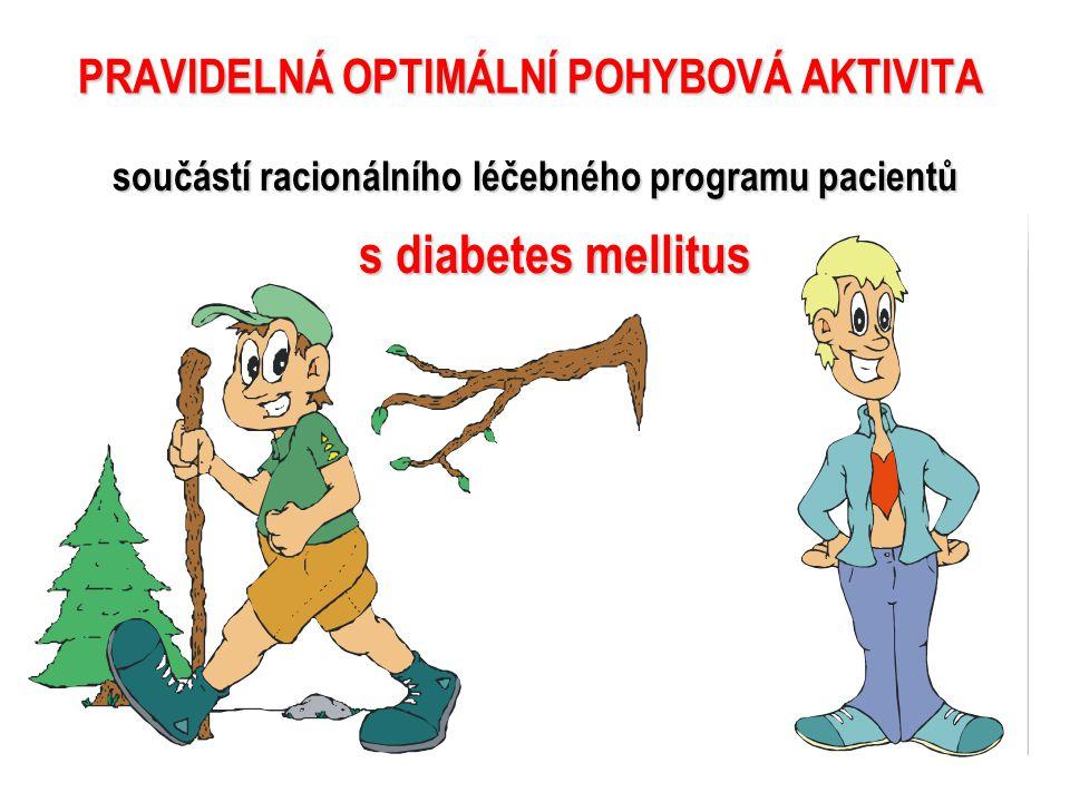 součástí racionálního léčebného programu pacientů s diabetes mellitus PRAVIDELNÁ OPTIMÁLNÍ POHYBOVÁ AKTIVITA INSULIN