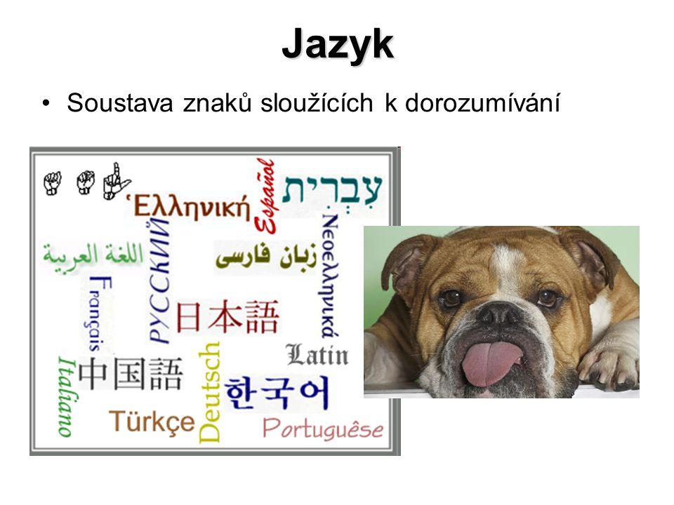 Jazyk Soustava znaků sloužících k dorozumívání