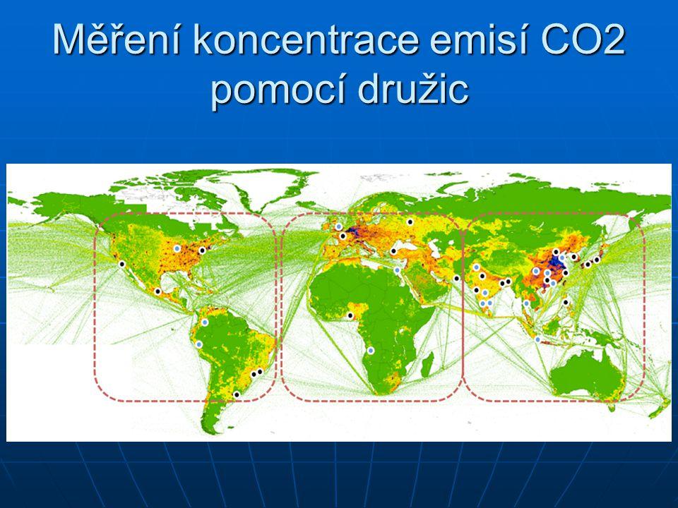 Měření koncentrace emisí CO2 pomocí družic
