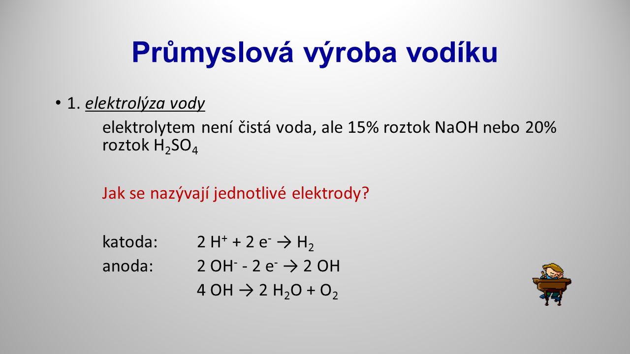 Průmyslová výroba vodíku 2.
