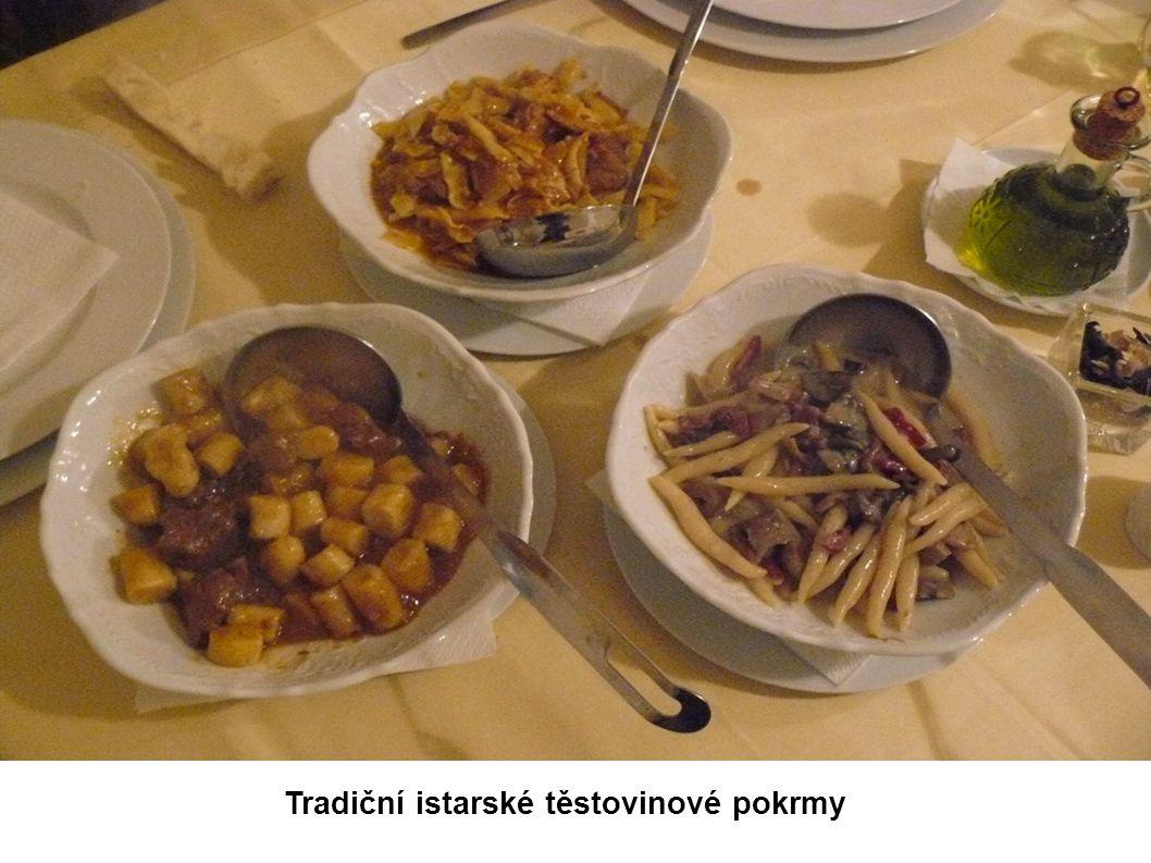 Tradiční istarské těstovinové pokrmy