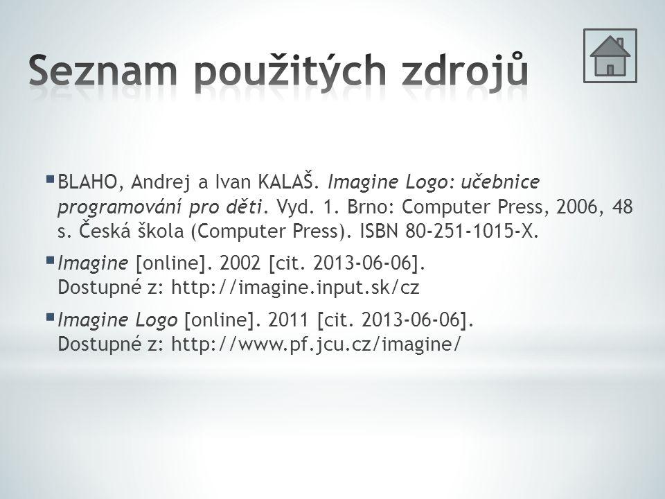  BLAHO, Andrej a Ivan KALAŠ. Imagine Logo: učebnice programování pro děti.