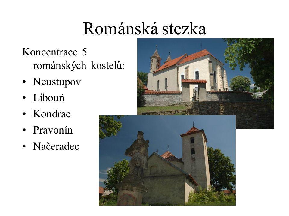 Románská stezka Koncentrace 5 románských kostelů: Neustupov Libouň Kondrac Pravonín Načeradec