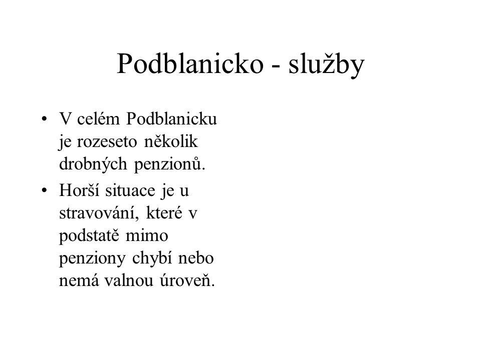 Podblanicko - služby V celém Podblanicku je rozeseto několik drobných penzionů.