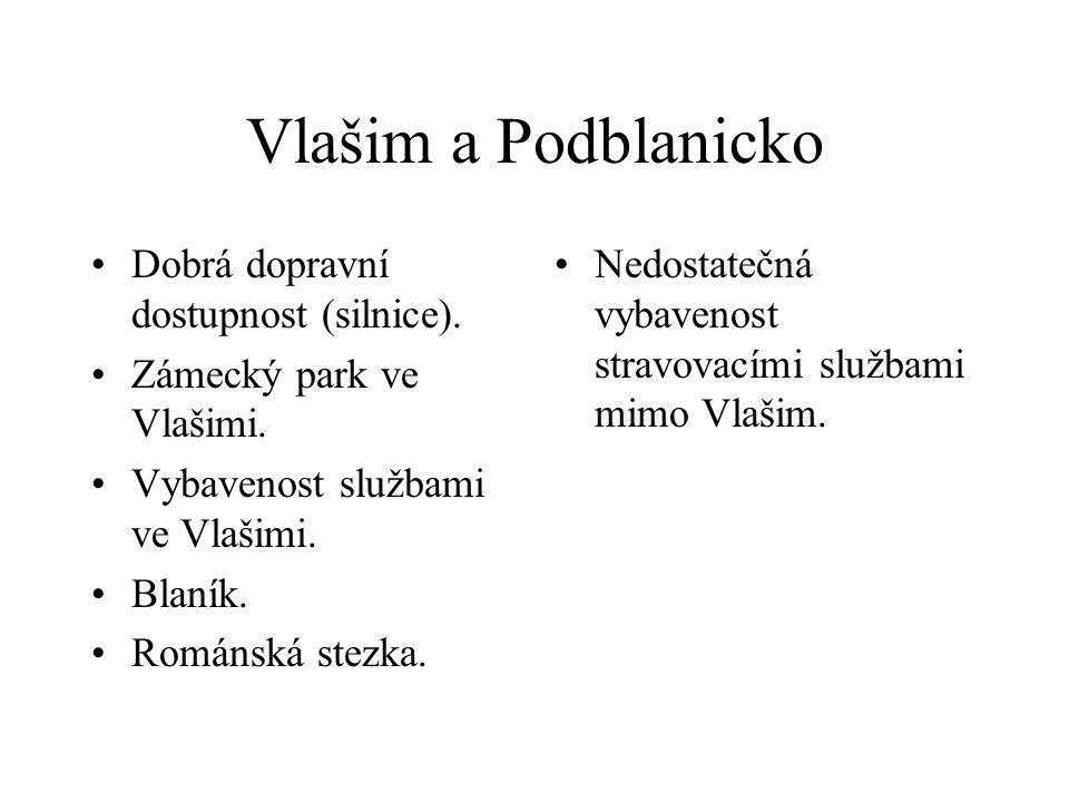Vlašim a Podblanicko Dobrá dopravní dostupnost (silnice).