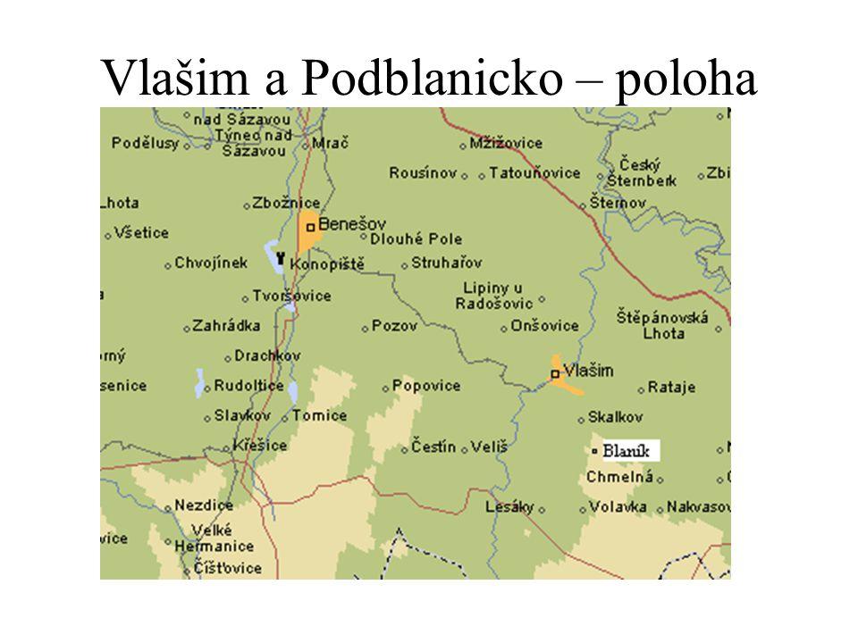 Vlašim a Podblanicko – poloha