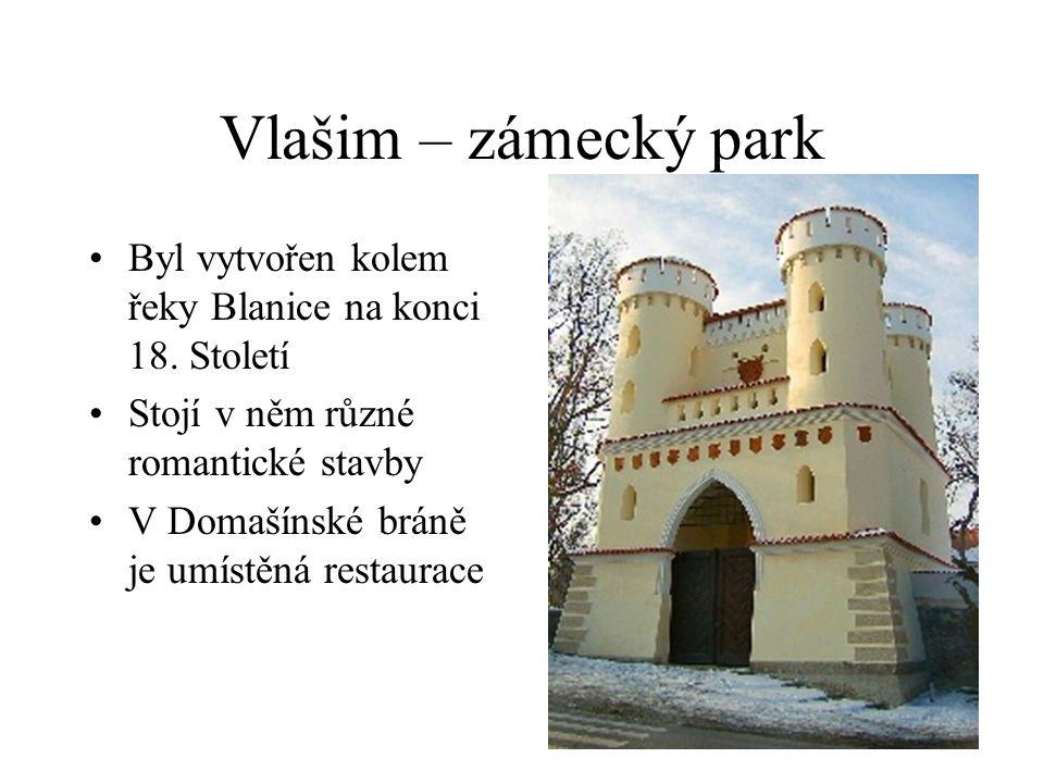 Vlašim – zámecký park