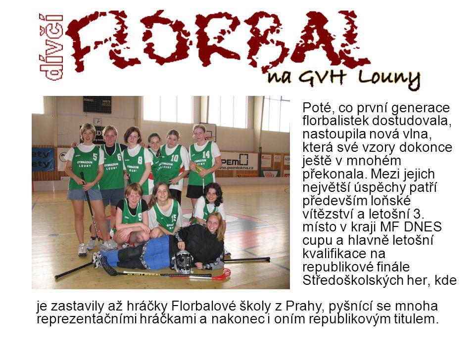 Loňské úspěchy gymnaziálních hráček nenechaly chladnou ani TJ LOKOMOTIVU Louny a sezónu 2005/06 1.