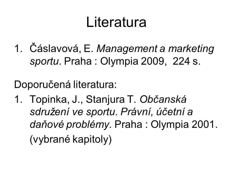 Seznam lekcí 1.Úvod do managementu Literatura: Čáslavová, kap.