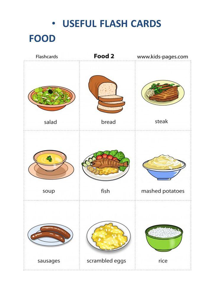 USEFUL FLASH CARDS FOOD