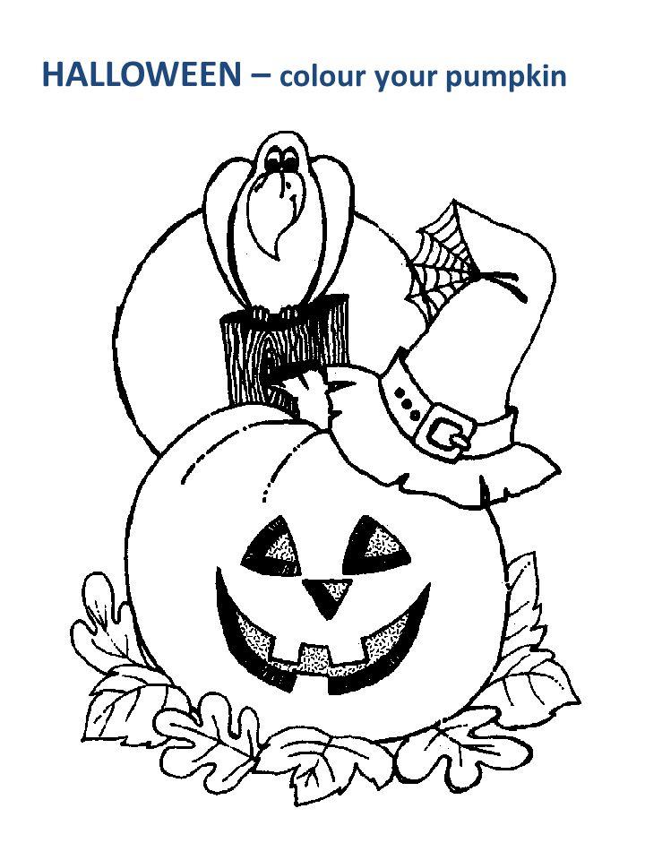 HALLOWEEN – colour your pumpkin