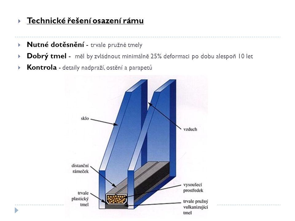  Připojovací spára (stěna-okno)  Tepelná izolace – v prostoru spáry v místě styku okna a stěny nesmí vzniknout tepelný most.