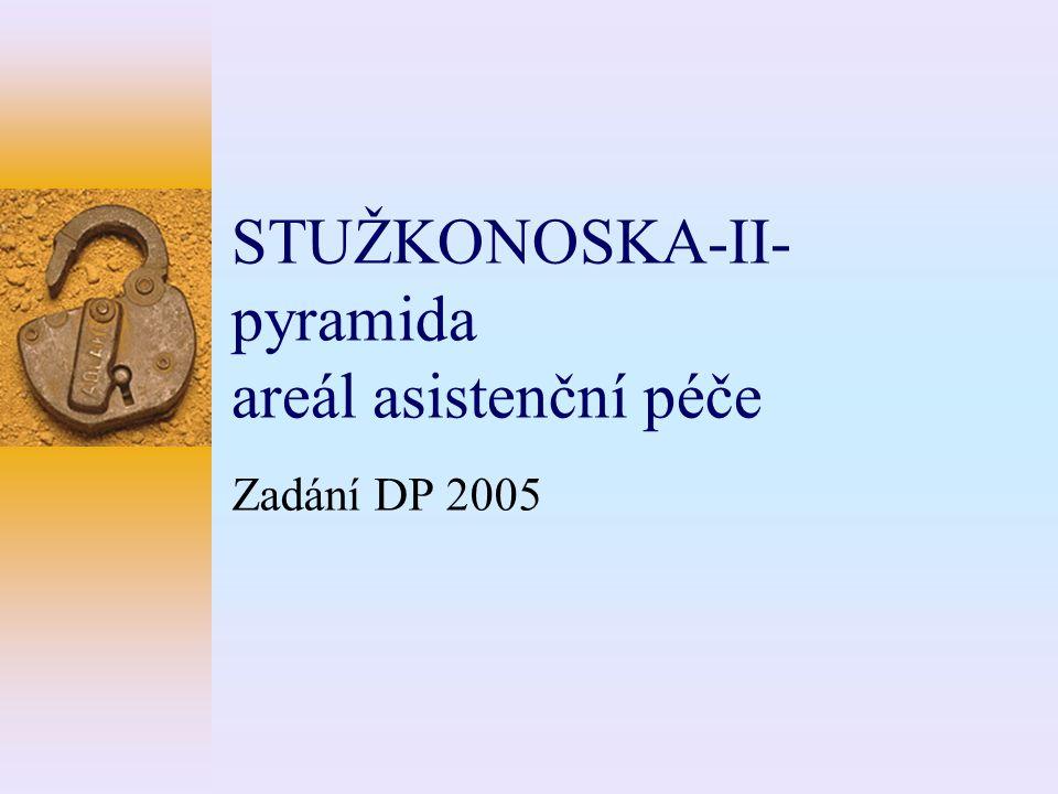STUŽKONOSKA-II- pyramida areál asistenční péče Zadání DP 2005